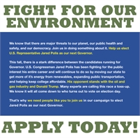Elect leaders who will fight for renewable energy $15-17/hr