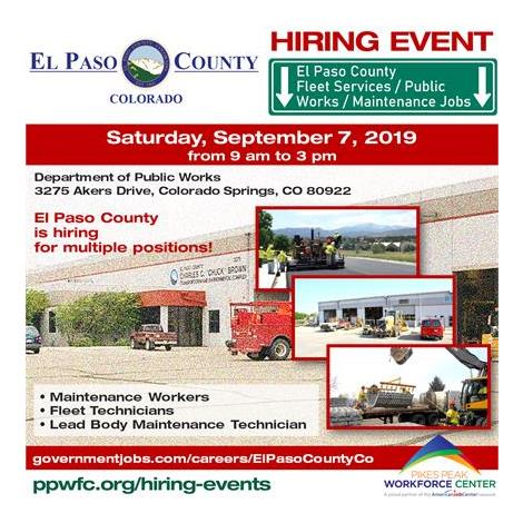 El Paso County Department of Public Works Hiring Event