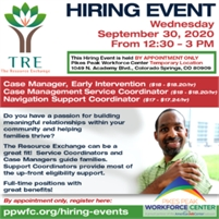 TRE – The Resource Exchange - Hiring Event by Appointment Only