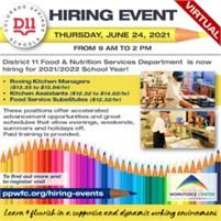 D11 – School District 11 - Virtual Hiring Event