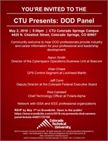 May 2nd- CTU Presents: DOD Careers Panel