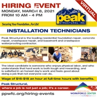 Peak Structural Virtual Hiring Event