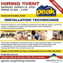 Peak Structural Virtual Hiring Event