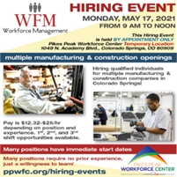 Workforce Management Hiring Event - By Appointment Only