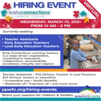 Early Connections Virtual Hiring Event